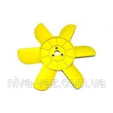 Крильчатка вентилятора радіатора охолодження 2121 жовта