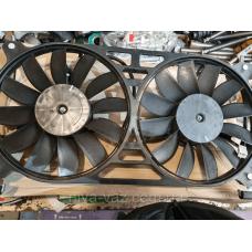 Мотор вентилятора радіатора Нива Шевроле ВАЗ 2123 в зборі з дифузором, Вентола