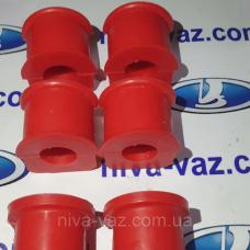 Втулка стабілізатора 2123 Нива Шевроле (червоний поліуретан) CS-20